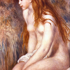 100% Hand Painted Oil on Canvas - Young Girl Bathing by Renoir
