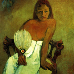 The Museum Outlet - Young Girl with Fan by Gauguin