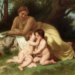 The Museum Outlet - Young Woman Contemplating Two Embracing Children