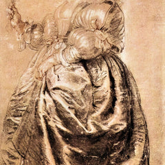 The Museum Outlet - Young Woman with a fan by Rubens