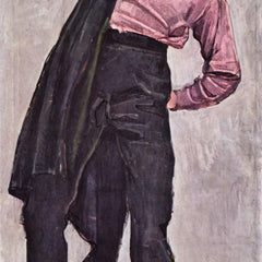 100% Hand Painted Oil on Canvas - Young freedom fighter by Ferdinand Hodler