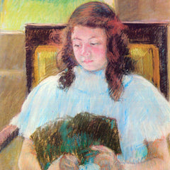 The Museum Outlet - Young girl reading by Cassatt