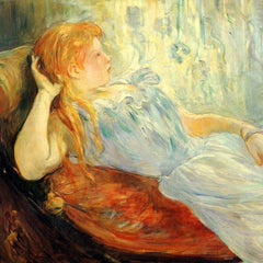 The Museum Outlet - Young girl resting [2] by Morisot