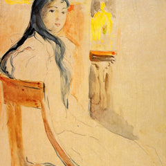 The Museum Outlet - Young girl resting by Morisot