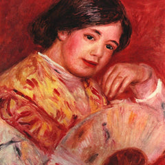 100% Hand Painted Oil on Canvas - Young girl with fan by Renoir