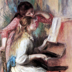 The Museum Outlet - Young girls at the piano [1] by Renoir