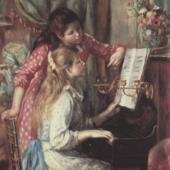 The Museum Outlet - Young girls at the piano [2] by Renoir