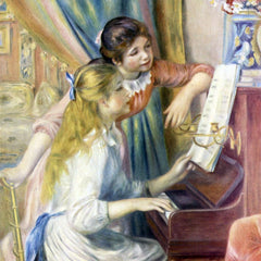 The Museum Outlet - Young girls at the piano [3] by Renoir