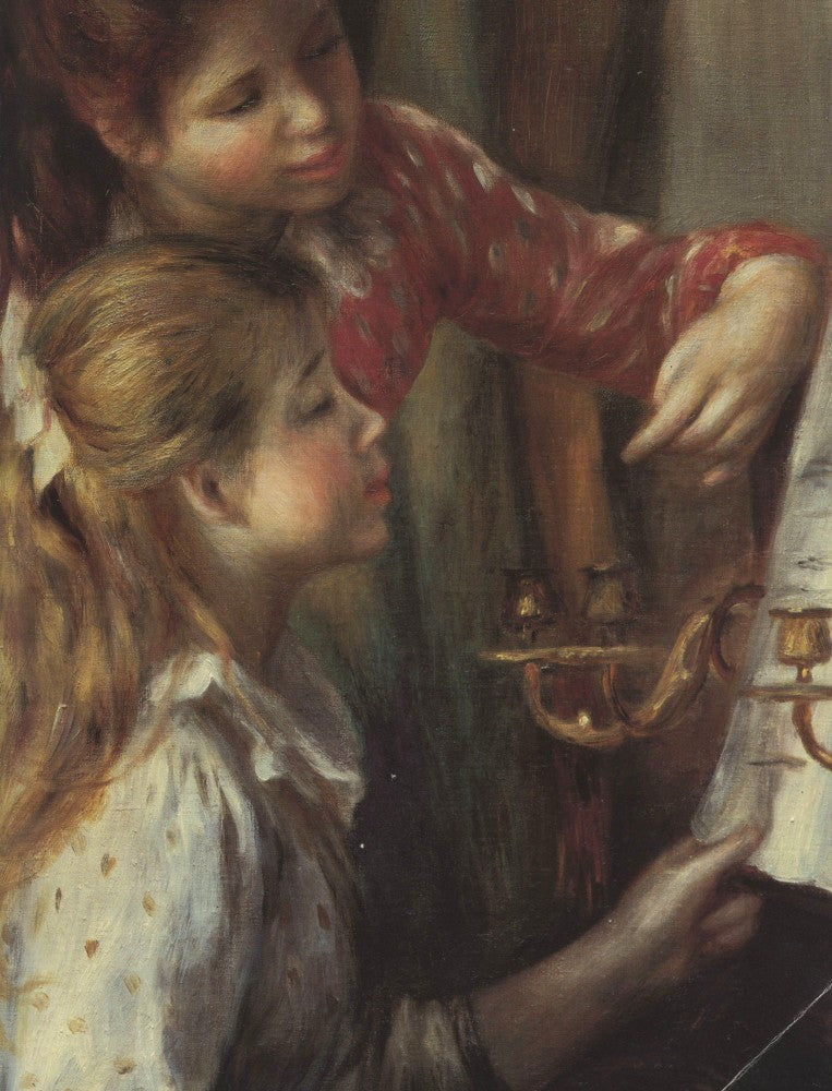 The Museum Outlet - Young girls at the piano (Detail) by Renoir