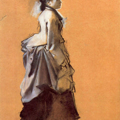 The Museum Outlet - Young lady in the road costume by Degas