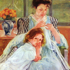 The Museum Outlet - Young mother sewing by Cassatt