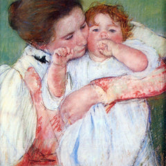 The Museum Outlet - Young mothers embrace by Cassatt
