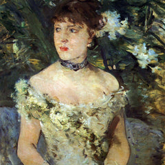 100% Hand Painted Oil on Canvas - Young woman in a costume ball by Morisot