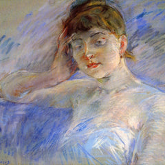 100% Hand Painted Oil on Canvas - Young woman in white by Morisot