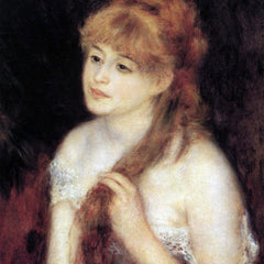 100% Hand Painted Oil on Canvas - Young woman strokes her hair by Renoir