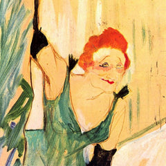 The Museum Outlet - Yvette Guilbert greets the Audience by Toulouse-Lautrec