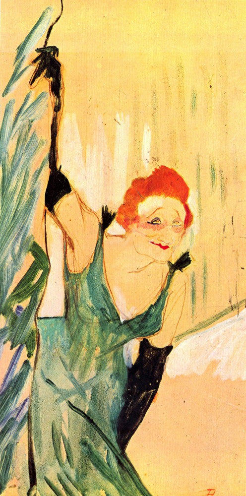100% Hand Painted Oil on Canvas - Yvette Guilbert greets the Audience by Toulouse-Lautrec