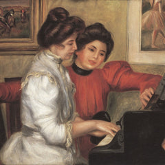 100% Hand Painted Oil on Canvas - Yvonne and Christine Lerolle at the piano by Renoir