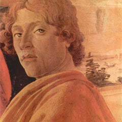 100% Hand Painted Oil on Canvas - Zanobi - Alter Detail 2 by Botticelli