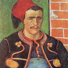 100% Hand Painted Oil on Canvas - Zouave half figure by Van Gogh