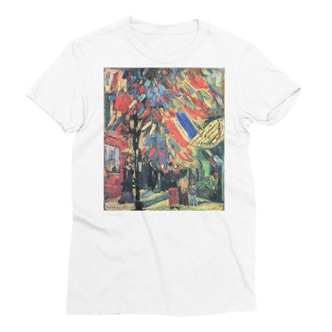 14 July in Paris by Van Gogh - Women's Short Sleeve T-Shirt - Vinteja Corporation