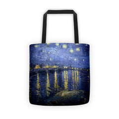 Starry Night Over the Rhone by Van Gogh - Tote bag - Vinteja Corporation
