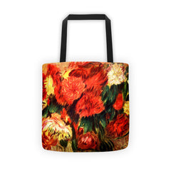 Still life with Chrysanthemums - Tote bag - Vinteja Corporation