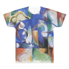 Bull by Franz Marc - Sublimation men's crewneck t-shirt - Vinteja Corporation