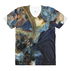 At the theatre by Renoir - Sublimation women's crew neck t-shirt - Vinteja Corporation