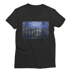 Starry Night Over the Rhone by Van Gogh - Women's Short Sleeve T-Shirt - Vinteja Corporation