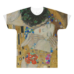 Klimt - The Kiss (detail) - Sublimation men's crewneck t-shirt - Vinteja Corporation