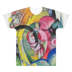 Small composition II by Franz Marc - Sublimation men's crewneck t-shirt - Vinteja Corporation