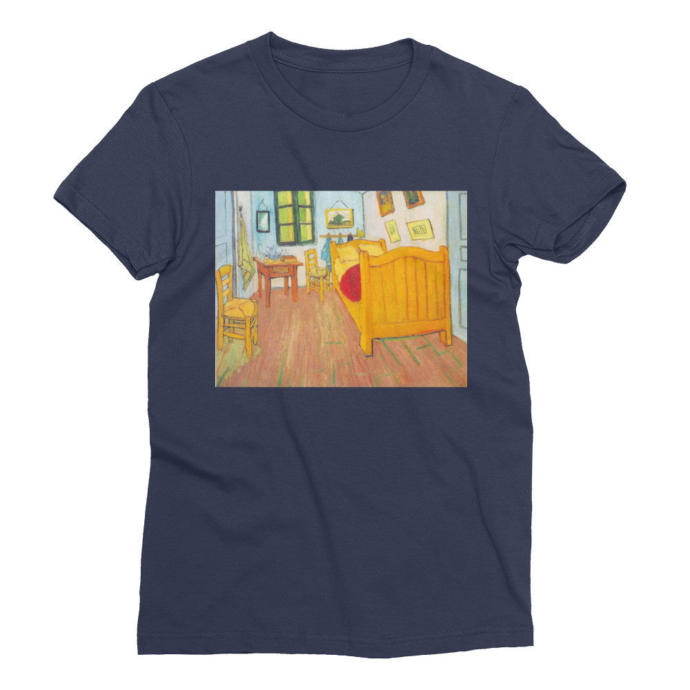 The bedroom in Arles. Saint-Remy by Van Gogh - Women's Short Sleeve T-Shirt - Vinteja Corporation