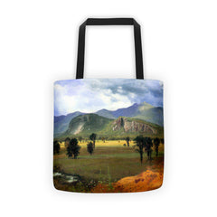 Moat Mountain, Intervale, New Hampshire by Bierstadt - Tote bag - Vinteja Corporation