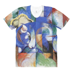 Bull by Franz Marc - Sublimation women's crew neck t-shirt - Vinteja Corporation