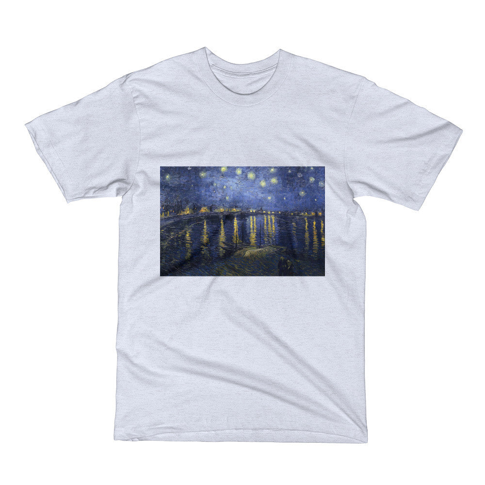 Starry Night Over the Rhone by Van Gogh - Men's Short Sleeve T-Shirt - Vinteja Corporation