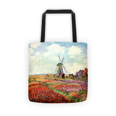Tulips of Holland by Monet - Tote bag - Vinteja Corporation