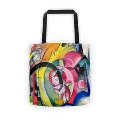 Small composition II by Franz Marc - Tote bag - Vinteja Corporation