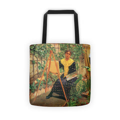 Young woman painting by Felix Vallotton - Tote bag - Vinteja Corporation