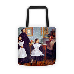 Portait of the Bellelli family by Degas - Tote bag - Vinteja Corporation