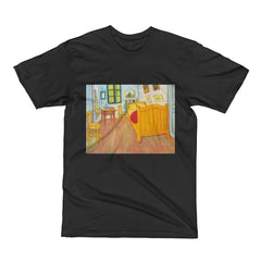 The bedroom in Arles. Saint-Remy by Van Gogh - Men's Short Sleeve T-Shirt - Vinteja Corporation