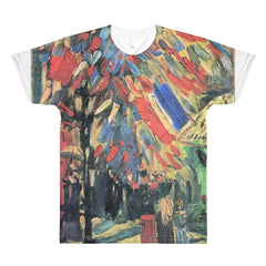 14 July in Paris by Van Gogh - Sublimation men's crewneck t-shirt - Vinteja Corporation