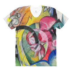 Small composition II by Franz Marc - Sublimation women's crew neck t-shirt - Vinteja Corporation