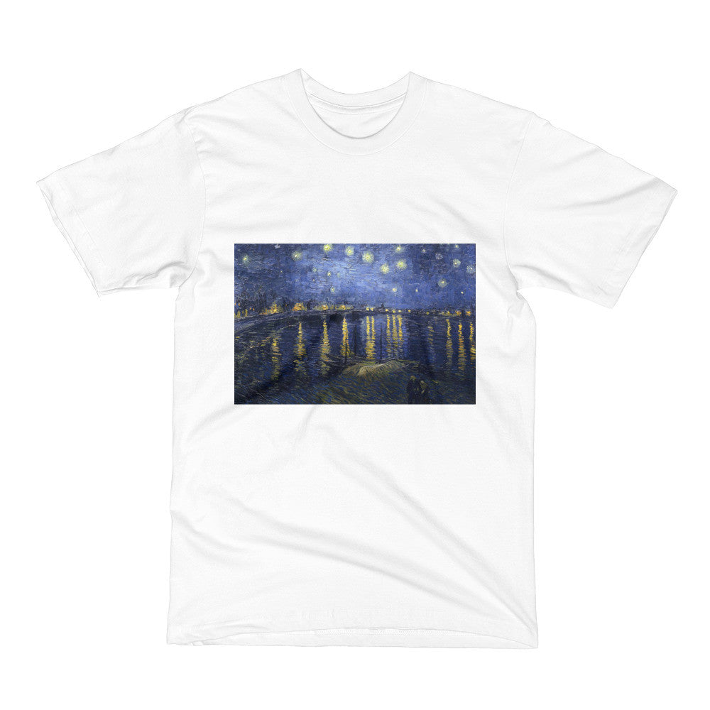 Starry Night Over the Rhone by Van Gogh Men's Short Sleeve T-Shirt - Vinteja Corporation