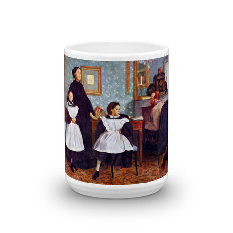 Portait of the Bellelli family by Degas - Mug made in the USA - Vinteja Corporation