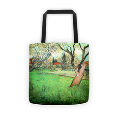 View of Arles with flowering tree by Van Gogh - Tote bag - Vinteja Corporation
