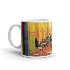 The Cafe Terrace on the Place du Forum Arles at Night - Mug made in the USA - Vinteja Corporation