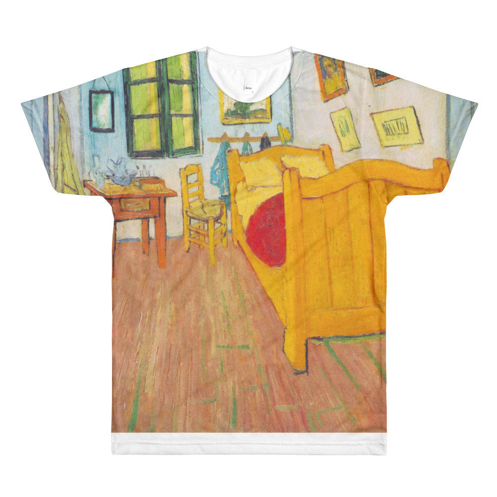 The bedroom in Arles. Saint-Remy by Van Gogh - Sublimation men's crewneck t-shirt - Vinteja Corporation