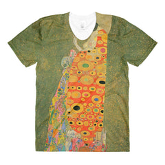Abandoned Hope by Klimt - Sublimation women's crew neck t-shirt - Vinteja Corporation