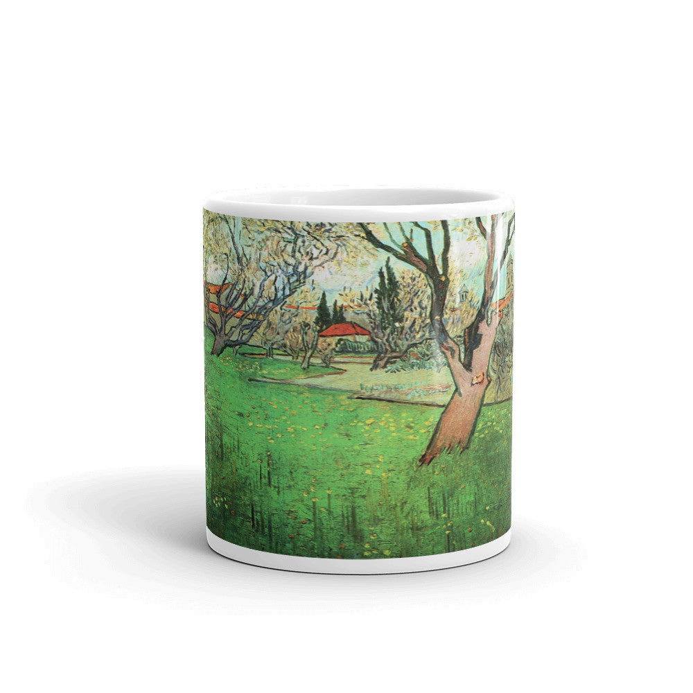 View of Arles with flowering tree by Van Gogh - Mug made in the USA - Vinteja Corporation